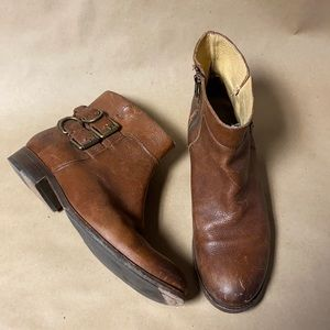Frye Brown Molly D-Ring Short Booties